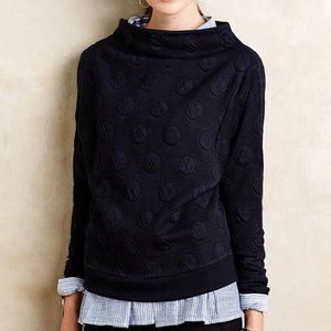 Anthropologie Dotted Funnelneck Pullover Sz MP